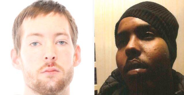 Isak Dewit, 30, och Haned Mahamed Abdullahi, 24, uppges ligga bakom gisslandramat. Polisen