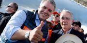 Duque och Uribe under valkampanjen NACHO DOCE / TT NYHETSBYRÅN
