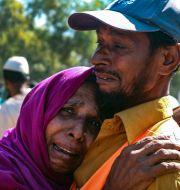 Rohingyer som är på väg att förflyttas.  Shafiqur Rahman / TT NYHETSBYRÅN