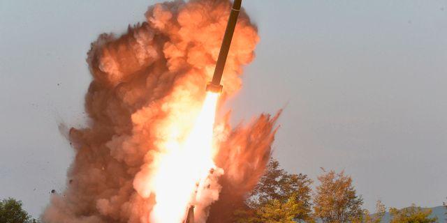 Arkivbild, nordkoreansk testskjutning. TT NYHETSBYRÅN