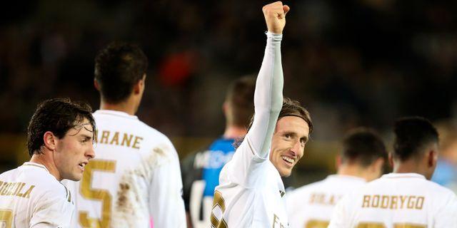 Real Madrids Luka Modric. Francisco Seco / TT NYHETSBYRÅN