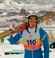 Arkivbild. Matti Nykänen vid OS i Calgary 1988.  BOB PEARSON / AFP