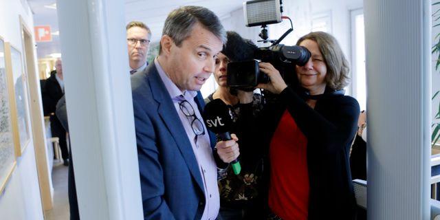 Kindberg på väg in i rättssalen. Mats Andersson/TT / TT NYHETSBYRÅN