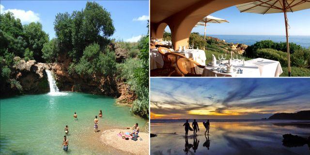 Vattenfallet i Tavira, hotellet Vila Joya och stranden Praia do Beliche är tre måsten på Algarvekusten, tipsar resemagasinet Travel & Leisure. Visit Portugal / Vila Joya / Wikicommons