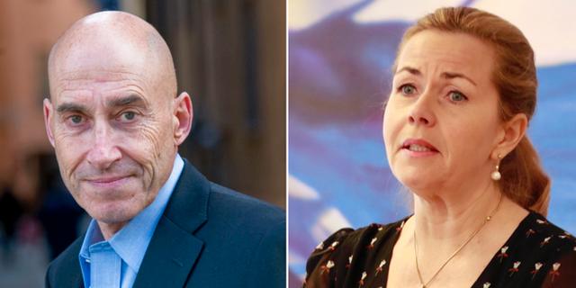 Olle Wästberg och Cecilia Wikström.  TT