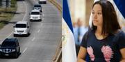 Under söndagen fördes Oscar Alberto Martinez och dottern Valerias kroppar till El Salvador. Tania Vanessa Avalos är hans änka. TT