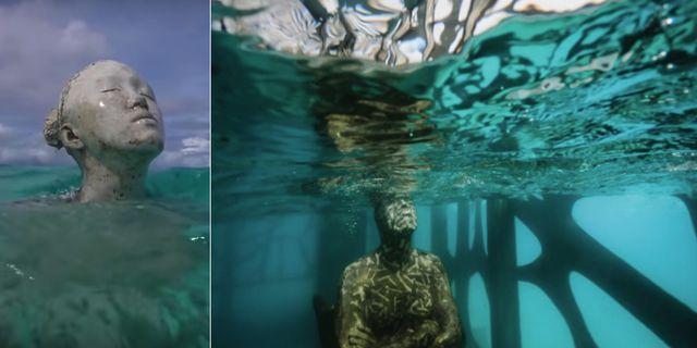 Jason deCaires Taylors verk går även att finna i bland annat Mexiko, Kanarieöarna, Indonesien och Bahamas. Youtube / Fairmont Maldives Sirru Fen Fushi