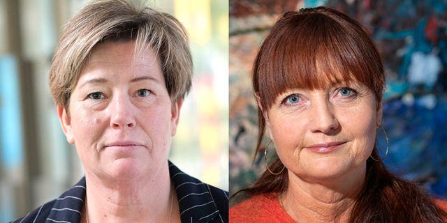 HRF:s ordförande Malin Ackholt och IF Metalls ordförande Marie Nilsson Sören Andersson