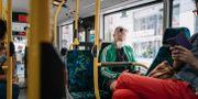 Svensk pendlare under coronapandemin Stina Stjernkvist/TT / TT NYHETSBYRÅN