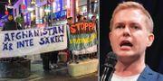 Demonstration mot utvisningar till Afghanistan / Gustav Fridolin.  TT