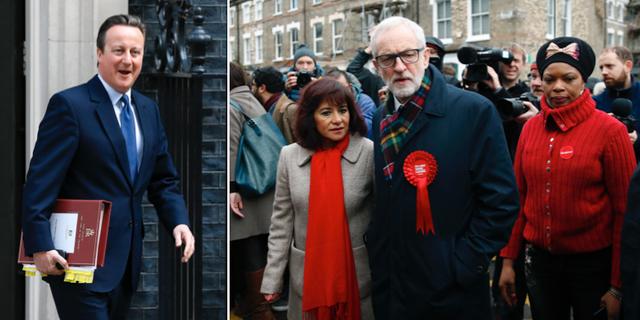 David Cameron och Jeremy Corbyn.