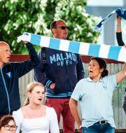 Publik under träningsmatchen mellan Malmö FF och Kalmar FF 12 juni.  CHRISTIAN ÖRNBERG / BILDBYRÅN