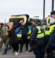 Protesterna i centrala Stockholm Henrik Montgomery/TT / TT NYHETSBYRÅN