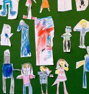 Teckningar på en förskola. Janerik Henriksson/TT / TT NYHETSBYRÅN