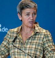 EU:s konkurrenskommissionär Margrethe Vestager.  Michael Sohn / TT NYHETSBYRÅN