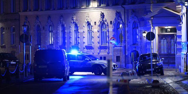 Polis och räddningstjänst larmades till Judiska församlingen på lördagskvällen Adam Ihse/TT / TT NYHETSBYRÅN