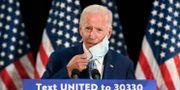 Joe Biden talar vid ett möte i Dover, Delaware under fredagen. Susan Walsh / TT NYHETSBYRÅN