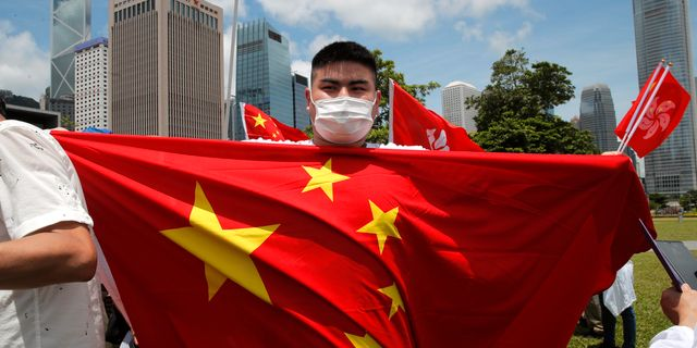 Firande av den nya säkerhetslagen i Hongkong. Kin Cheung / TT NYHETSBYRÅN