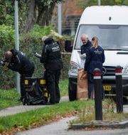 Kriminaltekniker vid skåpbilen där Madsen greps Johan Nilsson/TT / TT NYHETSBYRÅN
