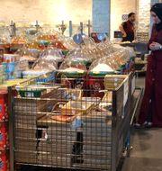 Arkivbild: En al-Meera-butik i Qatars huvudstad Doha.  STRINGER / AFP