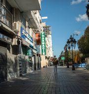 Stängda butiker i Tunis. Mosa'ab Elshamy / TT NYHETSBYRÅN