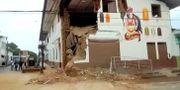 En förstörd byggnad i Yurimaguas REUTERS TV / TT NYHETSBYRÅN