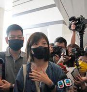 Chan Pui-man var en av cheferna som greps. Kin Cheung / TT NYHETSBYRÅN