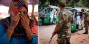 Många människor har tvingats fly delstaten Rakhine i Myanmar på grund av våld.  TT