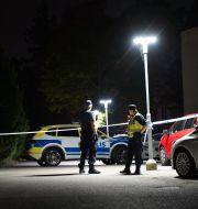 Brottsplatsen i Växjö. Carl Carlert/TT / TT NYHETSBYRÅN