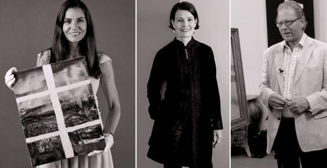 Victoria Svederberg, Lena Rydén, Claes Moser. Pressfoton & TT