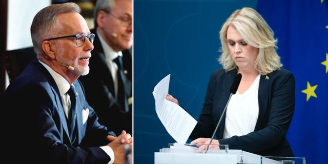 Göran K Hansson och Lena Hallengren. TT