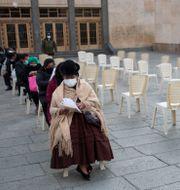 Vaccinering i La Paz, Bolivia. Juan Karita / TT NYHETSBYRÅN