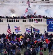 Bild från stormningen av Kapitolium i januari.  John Minchillo / TT NYHETSBYRÅN