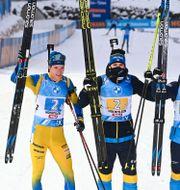 Sebastian Samuelsson, Martin Ponsiluoma, Jesper Nelin och Peppe Femling.  JOE KLAMAR / TT NYHETSBYR�N