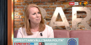 Annie Lööf. Expressen tv