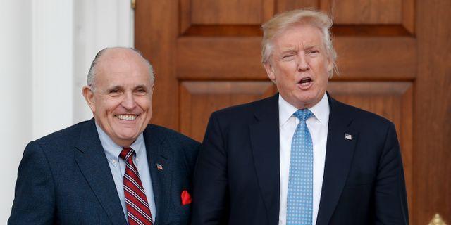 Rudy Giuliani och Donald Trump.  Carolyn Kaster / TT NYHETSBYRÅN