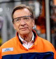 Håkan Samuelsson ute i fabriken i Torslanda som stängdes ner förra våren. ADAM IHSE / TT / TT NYHETSBYRÅN