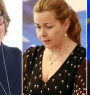 Karin Karlsbro, Cecilia Wikström och Jan Björklund. TT