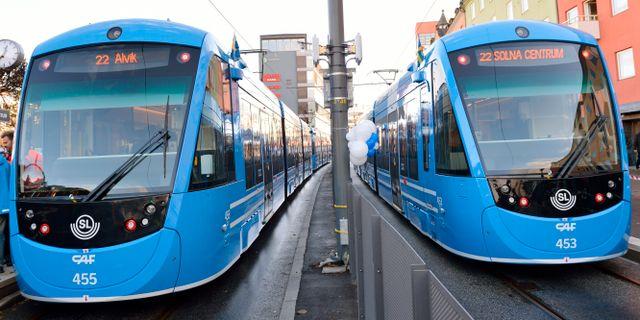 Tvärbanan i Stockholm. HENRIK MONTGOMERY / TT / TT Nyhetsbyrån