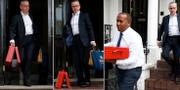 Michael Gove utanför sitt hem på måndagen.  REUTERS/Henry Nicholls Photo: / REUTERS / TT / kod 72000