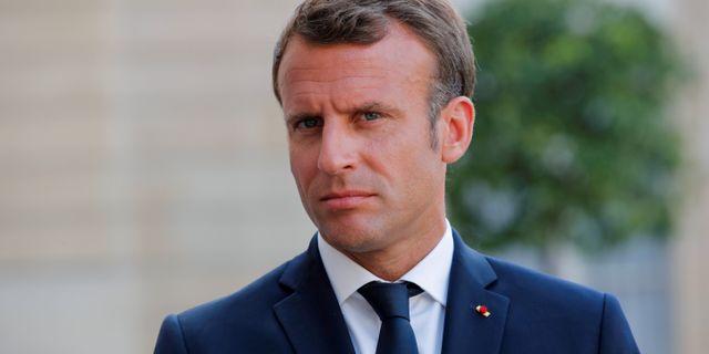 Emmanuel Macron. Philippe Wojazer / TT NYHETSBYRÅN