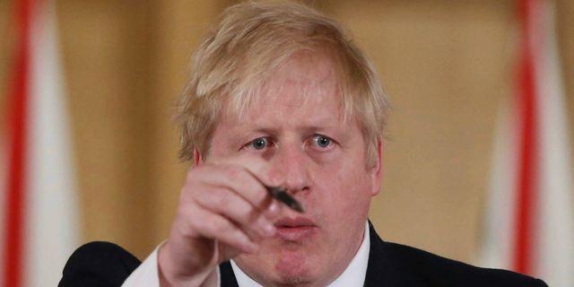 Boris Johnson på en presskonferens den 22 mars. Ian Vogler / TT NYHETSBYRÅN