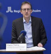 Region Stockholms vaccinationssamordnare Magnus Thyberg. Anders Wiklund/TT / TT NYHETSBYRÅN