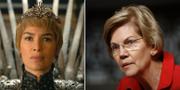 Elizabeth Warren till höger. TT