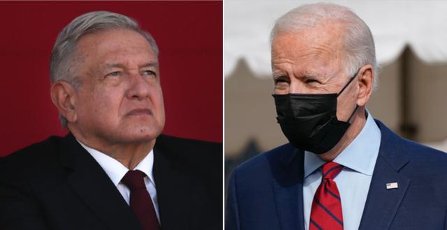 Andrés Manuel López Obrador och Joe Biden. TT