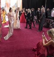 Fotografering på röda mattan vid förra årets Oscarsgala  TT