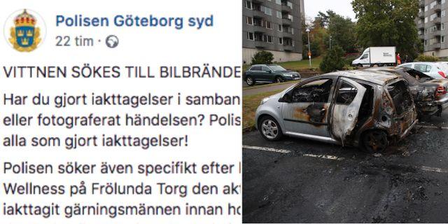 Skärmdump från polisens Facebook, TT
