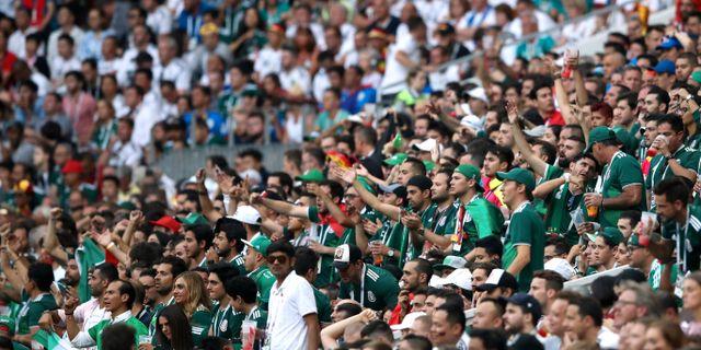 Mexikanska fans under matchen mot Tyskland. CARL RECINE / TT NYHETSBYRÅN