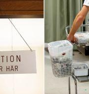 Arkivbilder. Reception på vårdcentral och vårdpersonal.  TT