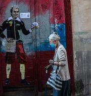 Kvinna på gatan i Madrid Bernat Armangue / TT NYHETSBYRÅN